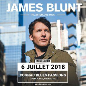 James Blunt en concert à Cognac Blues Passions en 2018