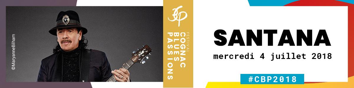 Carlos Santana à Cognac Blues Passions