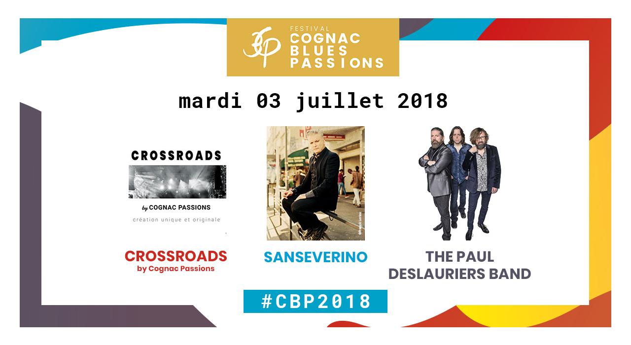 La programmation du mardi 3 juillet à Cognac Blues Passions